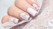gorgeous wedding nail design