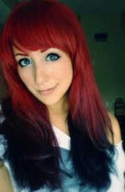 gorgeous red ombre hair