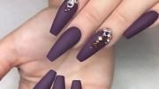 gorgeous matte nail design