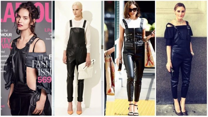 Leather Overalls Outfits