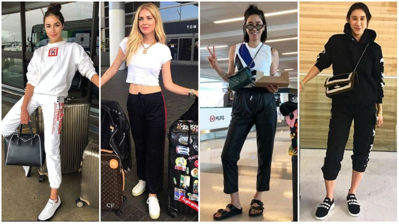 celebrity travel outfits to