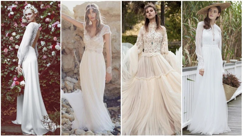 Bohemian Wedding Dresses for Whimsical Brides  The Trend