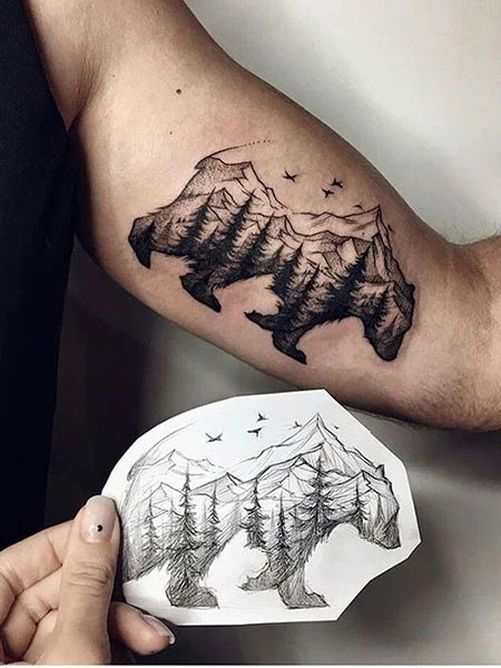 Simple Tattoo Design For Biceps