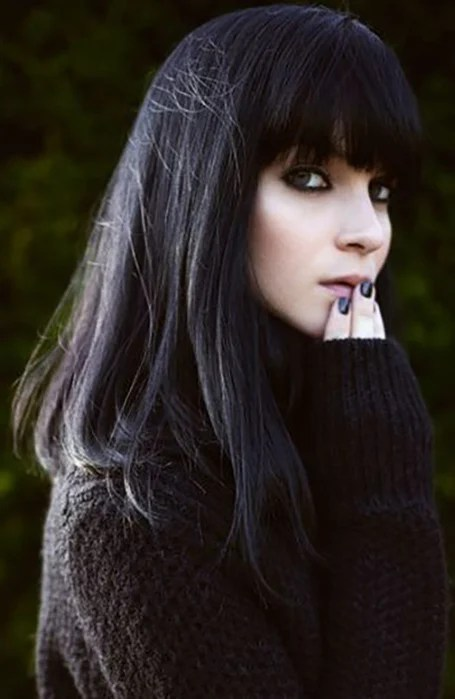 Long Black Hair With Bangs