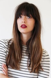 gorgeous long hair with bangs