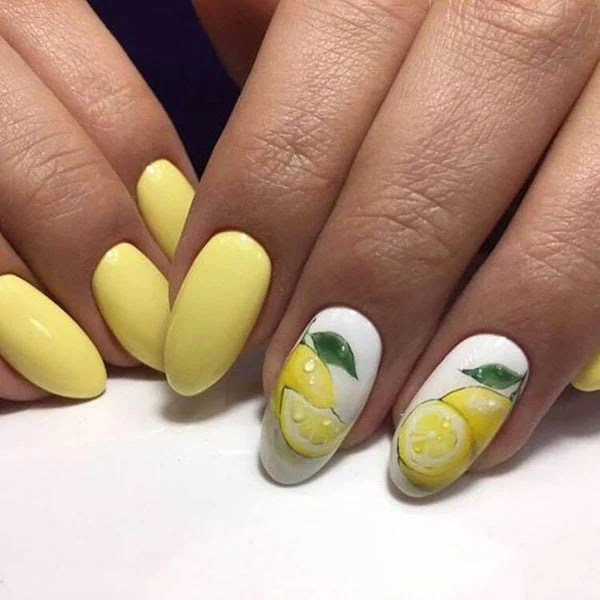 Lemon Design Nails