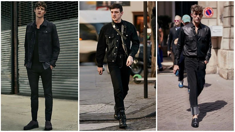 pix Black Style Formal Black Style Shirts For Men most stylish all black outfits for men