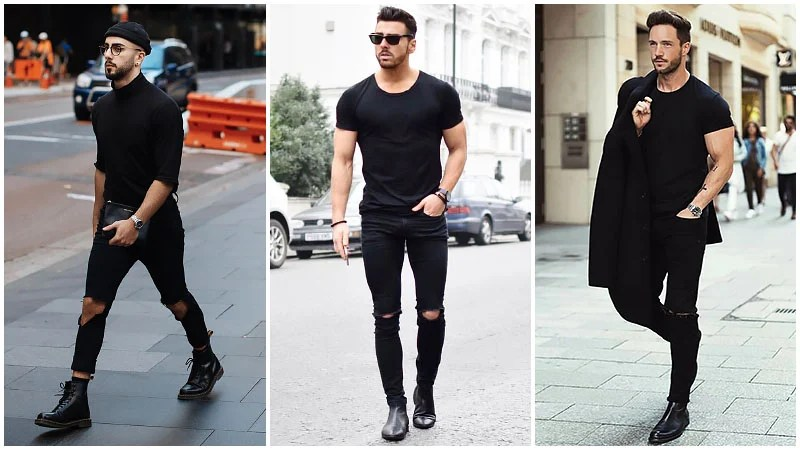 wallpapers Black Style Formal Black Style Shirts For Men most stylish all black outfits for men