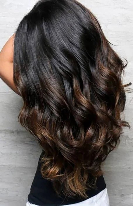 Balayage Black Hair