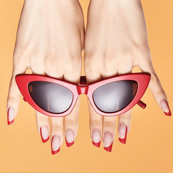 Lipstick Shape Acrylic Nails