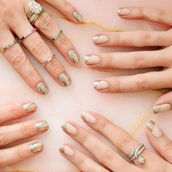 Elegant Glitter Nails