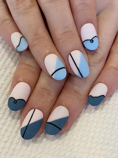 Blue Nails Abstract Art