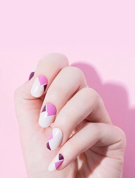 Pink And White Design