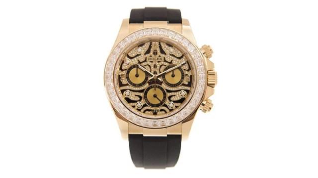 Cosmograph Daytona Eye Of The Tiger Chronograph Automatic Chronometer Diamond Men's Watch