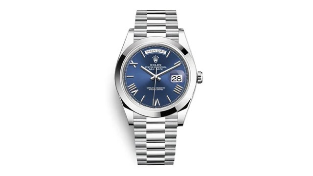 Day Date 40 Blue Dial Automatic Men's Platinum President Watch