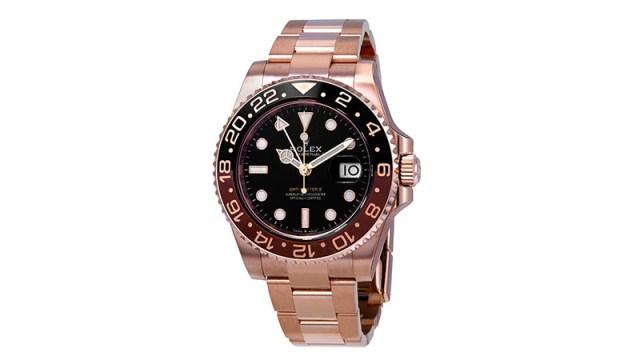 Gmt Master Ii Automatic Men's 18kt Everose Gold Oyster Coke Bezel Watch