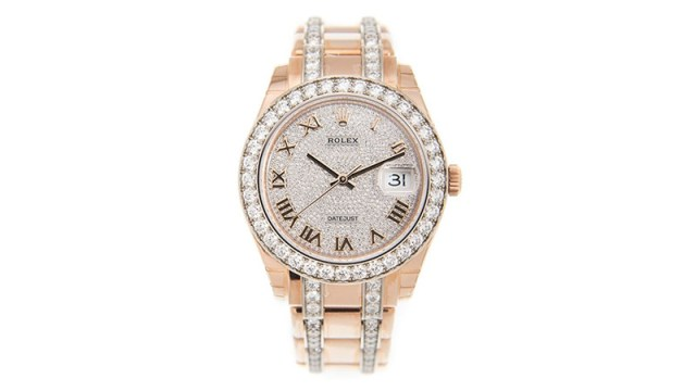 Pearlmaster 39 Diamond Pave Dial Men's 18kt Rose Gold Pearlmaster Watch