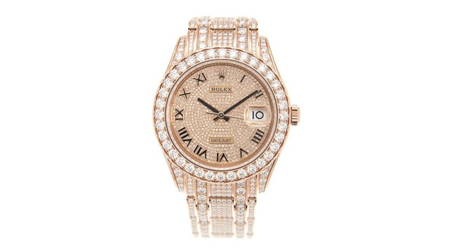 Pearlmaster 39 Men's 18kt Everose Gold Pearlmaster Diamond Pave Watch