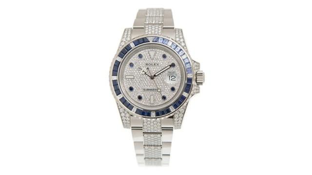 Submariner Automatic Chronometer Diamond Silver Dial Men's Watch