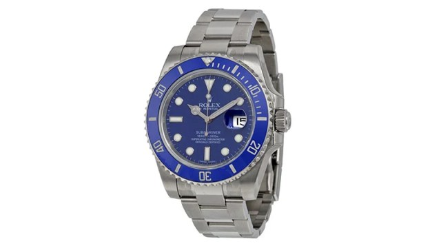 Submariner Date Blue Dial 18k White Gold Oyster Bracelet Automatic Men's Watch