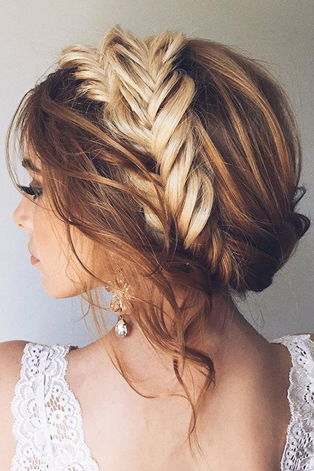Updo With Fishtail