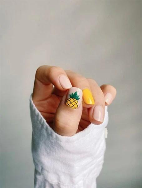 Yellow Pineapple Nails