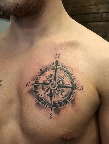 Compass Tattoo Men
