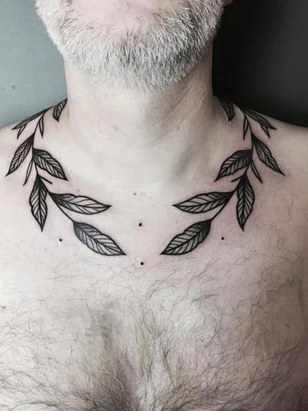 Branches Collarbone Tattoo