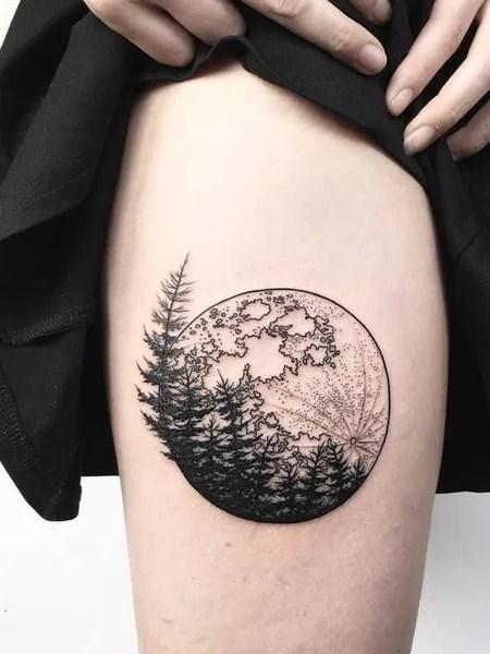 Full Moon Tattoo