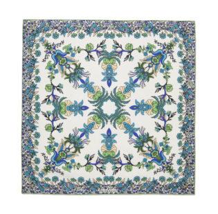 Givenchy Floral Print Silk Twill Scarf
