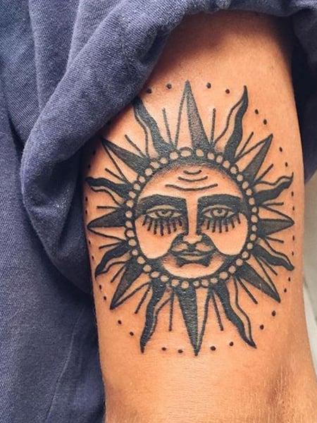 Traditional Sun Tattoo