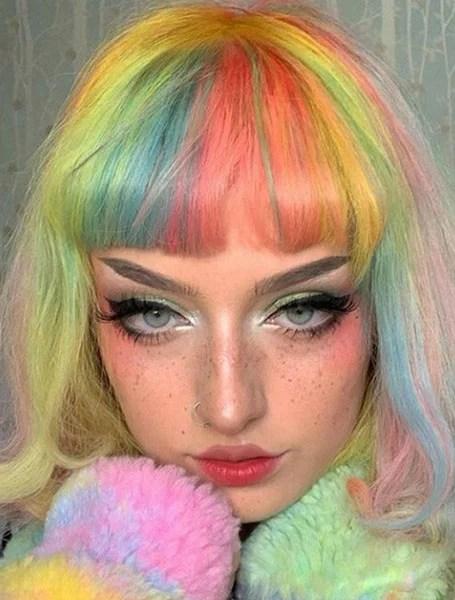 E Girl Rainbow Hair