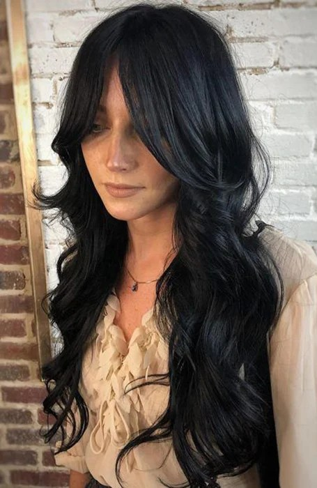 Black Long Layered Hairstyle
