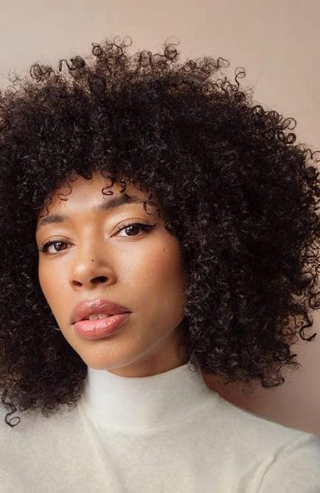 Layered Long Afro Cut