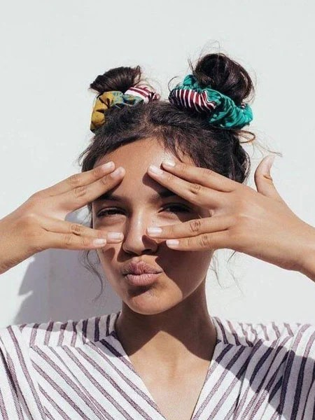 Space Buns With Scrunchies