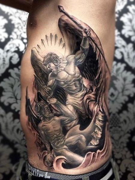 Angel Rib Tattoo