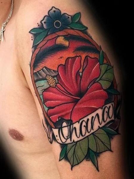 Hawaain Flower Tattoo
