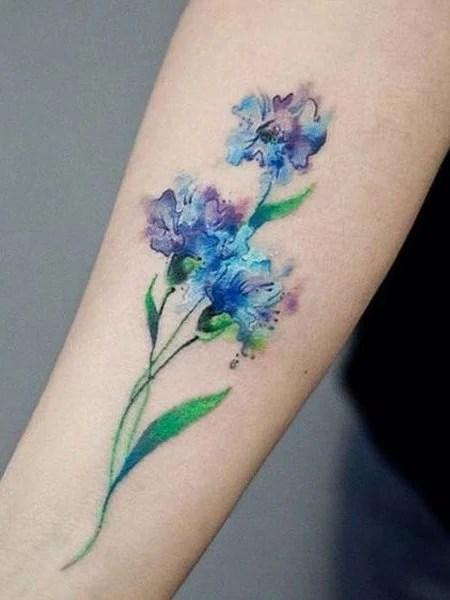 Watercolor Flower Tattoo (1)