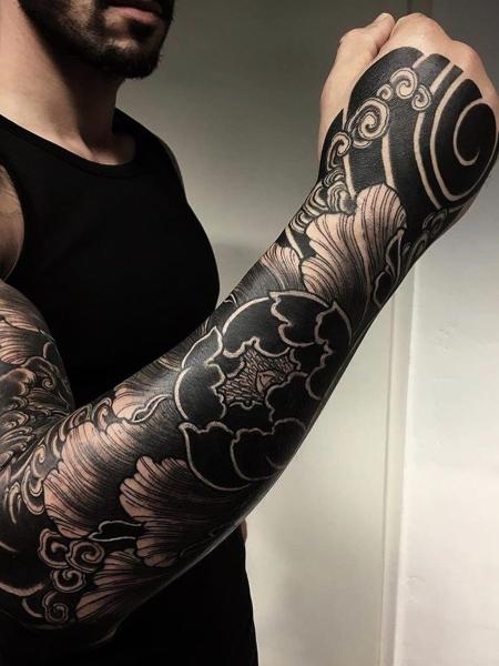 Black Japanese Tattoo