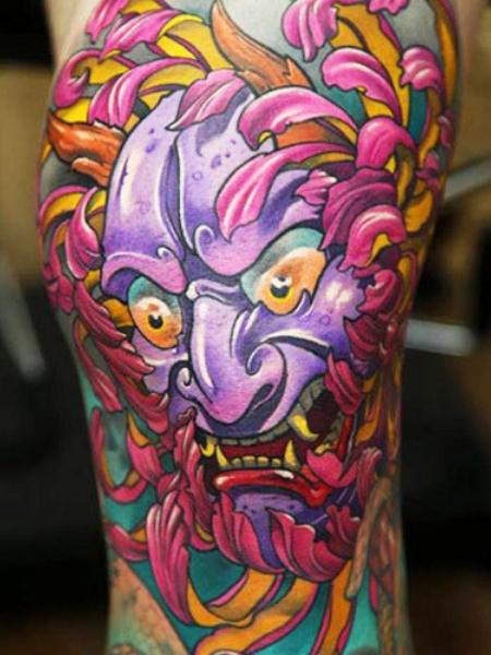 Purple Japanese Tattoo