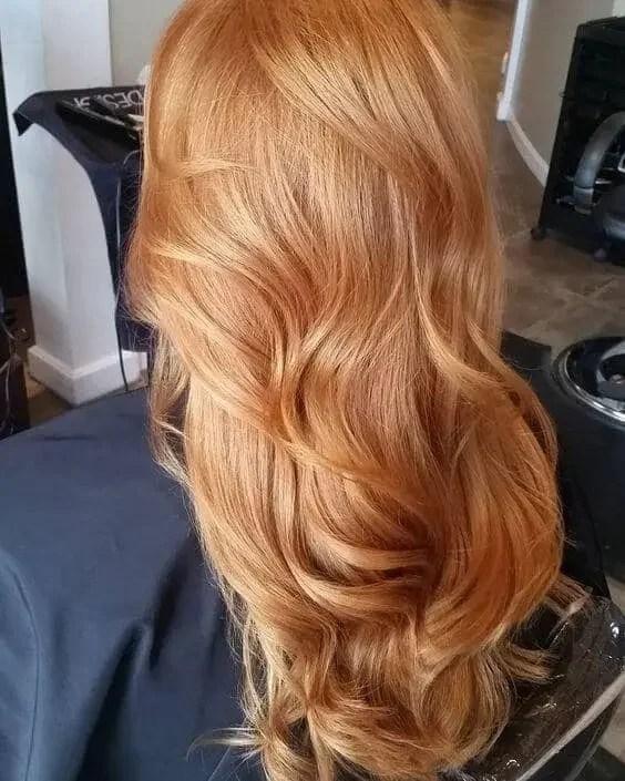 Golden Strawberry Blonde Hair