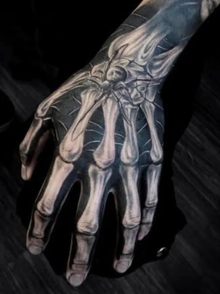 Realistic Skeleton Hand Tattoo