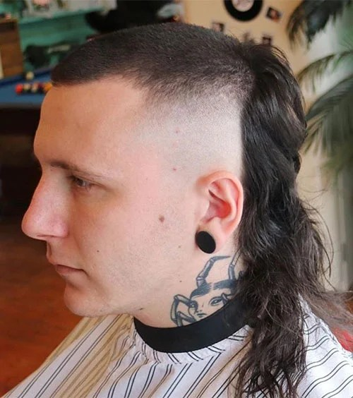 Skullet With Long Hair