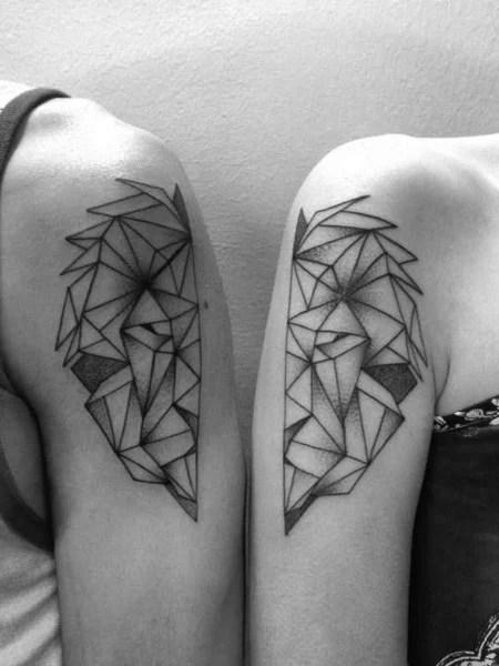Geometric Sibling Tattoo