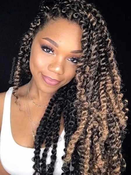 Passion Twists Side Part Hairstyle