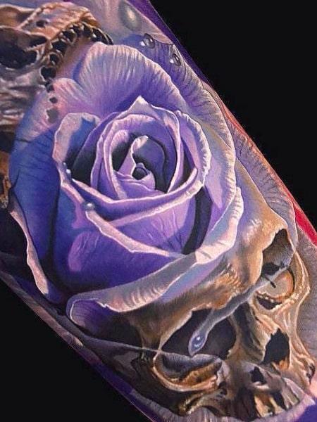 Purple 3d Tattoo