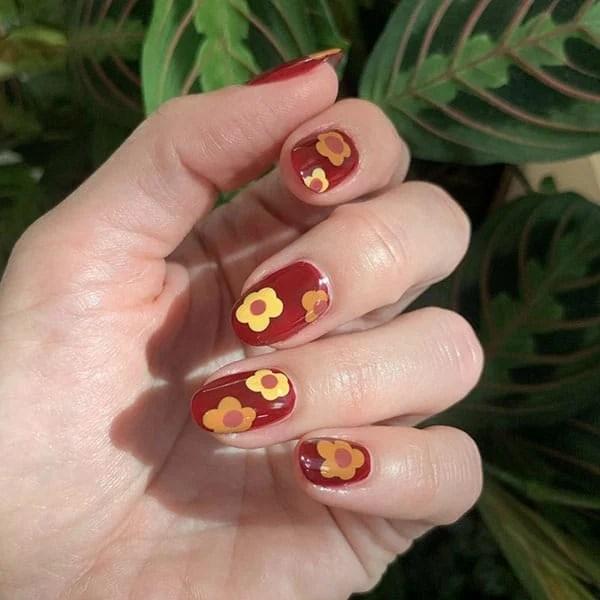 Autumn Florals Pretty Nails Stephstonenails