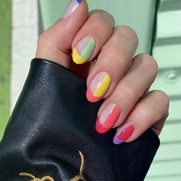 Bright French Manicure Art Nail Ideas Julieknailsnyc