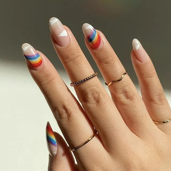 Rainbows And Clouds Pretty Nails Amyle.nails