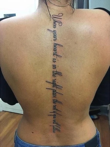 Quote Spine Tattoo